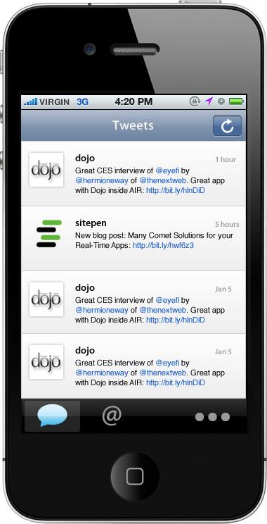 dojox mobile 1.7
