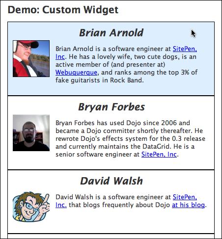 Creating a custom widget - Archived Tutorial - Dojo Toolkit